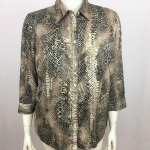 Lauren Ralph Lauren Button Front Shirt Womens 1X